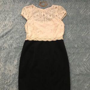 Studio 1 Petite - Cream Lace Top Elegant Dress